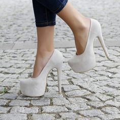 Chaussure a talons blanche