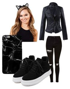 """Black Cat halloween"" by the-minky on Polyvore featuring Johnny Loves Rosie and Topshop"