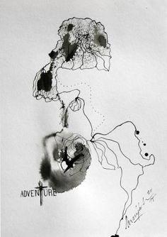 "Saatchi Art Artist Marijah Bac Cam; Drawing, ""Adventure"" #art"