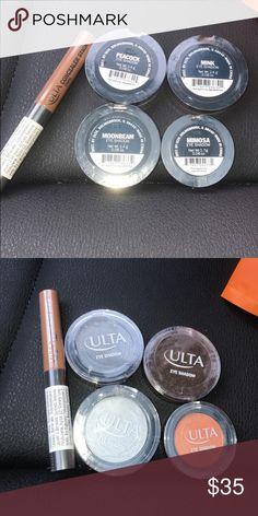 Ulta Bundle Eyeshadow and Concealer Brand new, sealed Moonbeam Eyeshadow  Peacock Eyeshadow Mimosa Eyeshadow Mink Eyeshadow Ulta Concealer Stick Dark ulta Makeup