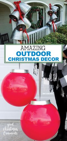 Outdoor Christmas Decor - Ready to really step in up a notch without breaking the bank? Consider some of these ideas for creating AMAZING outdoor Christmas Decor! Outside Christmas Decorations, Diy Christmas Lights, Noel Christmas, Christmas Projects, Homemade Christmas, Christmas Ornaments, Christmas Ideas, Christmas Christmas, Outdoor Christmas Presents