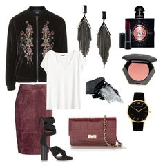 """""""Rockstar Christmas"""" by online-saberviver on Polyvore featuring Uterqüe, H&M, Topshop, MANGO, Larsson & Jennings, Yves Saint Laurent, MAC Cosmetics and Gorgeous Cosmetics"""