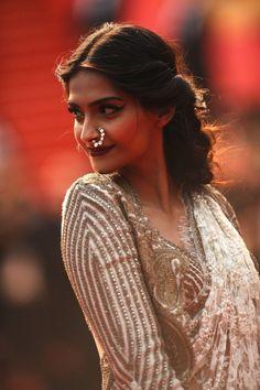 Sonam Kapoor |  Cannes 2013 | Indian Fashion | Nose Ring <3