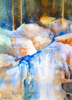 "Daily Paintworks - ""Waterstone"" - Original Fine Art for Sale - © Reveille Kennedy"