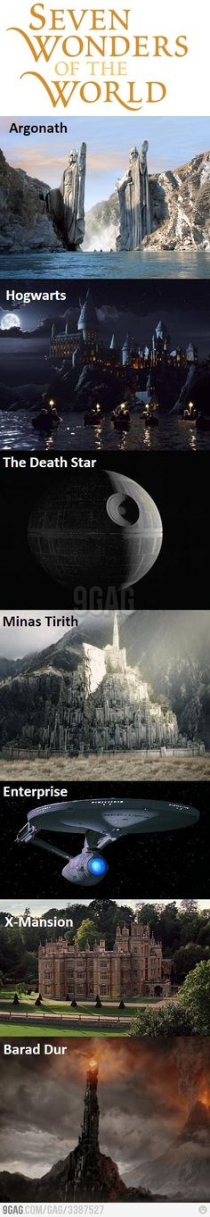 I'd visit all those places. . .even the Death Star as long as I had a for sure way out before the explosion.