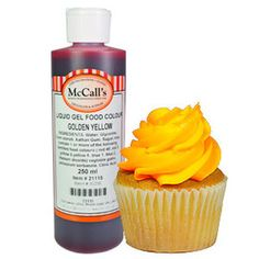 This gel liquid Golden Yellow food colour is a concentrated formula which gives a Golden, yellow colour. Gel Food Coloring, Colouring, Yellow Foods, Whipped Topping, Gel Color, Golden Yellow, Colors, Whip Frosting, Colour