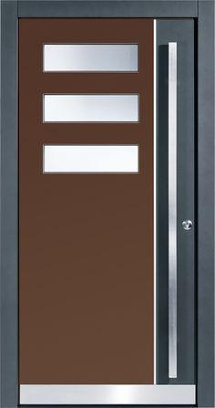 Pieno Haustüre Locarno in dunkelbraun / grau. Die exklusiven Pieno Haustüren jetzt auch bei Fenster-Schmidinger in Gramastetten in Oberösterreich erhältlich. Infos auf unserer Website www.fenster-schmidinger.at  #Haustüren #Doors #Eingangstüren #Exklusiv #Pieno