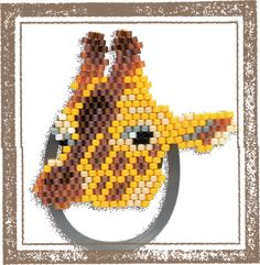 It arrived new bracket. Animal clip made from MIYUKI Delica beads