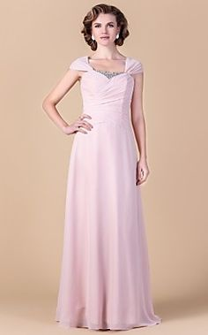 Sheath/Column Square Floor-length Chiffon Mother of the Bri... – USD $ 149.99