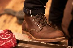 Red Wing Heritage Iron Ranger Amber Full Grain Leather