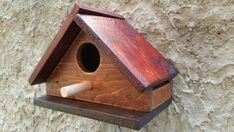 Bird House Wood Bird House Birdhouse Cottage by TheWoodArtShop