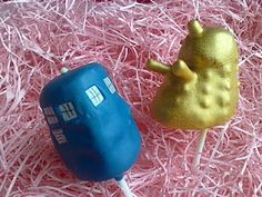 Dr Who cake pops @Katy Zimmerman