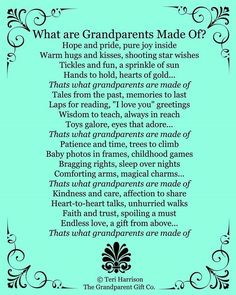 New Grandma and Grandpas- such an impact your will have! More New Grandma and Grandpas- such an impact your will have! More New Grandma and Grandpas- such an impact yo Grandparents Day Poem, Grandparents Day Activities, New Grandparent Gifts, Grandma And Grandpa, Grandma Gifts, Grandma Quotes, Daughter Quotes, Father Daughter, Sister Quotes