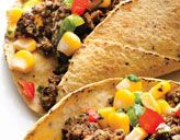 black bean tacos with corn salsa...good in theory, but a bit dry in actuality. Perhaps more seasoning and a bit of salsa would improve it?