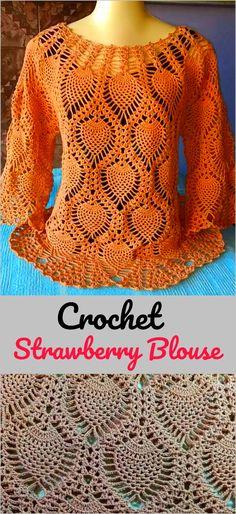 Crochet Strawberry Blouse