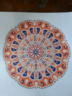 Mandala #2 Just finished coloring this from Balance by Angie Grace