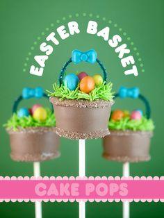 Easter Basket Cake Pops