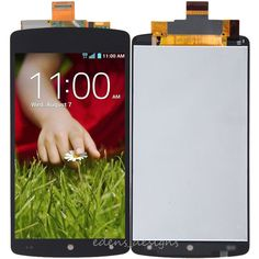 Black LCD Screen Digitizer Assembly Replacement For LG Google Nexus 5 D820 D821