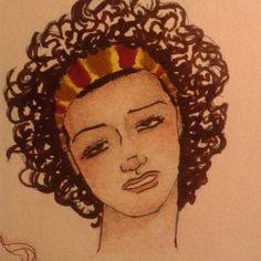 Sem paciência pra quem tá começando #desenho #sketch #arte #art #mulher #woman #fabercastell #unipin #tombow