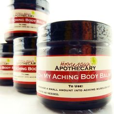 Oh My Aching Body Balm for muscle and joint pain from Homespun Apothecary