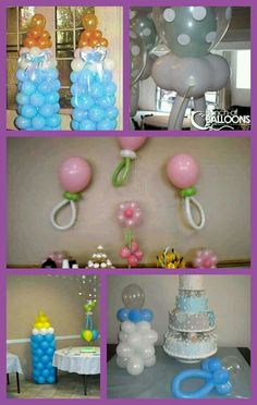 Baby Shower balloon idea