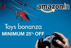 Amazon #Toys #Bonanza is offering Minimum 25% off on Kids Toys. including Featured stores like STEM Store, International Toy Store, Premium Toy Store, Ravensburger Puzzles, Hamleys Toy Shop, LEGO Shop, Star Wars Light Sabers, Gifting Store, Party Supplies, Barbie Store.  http://www.paisebachaoindia.com/toys-bonanza-minimum-25-off/