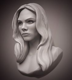 Cara Delevingne head #zbrush #sculpting #anatomy #portrait