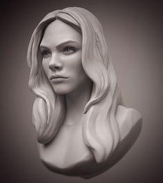 Cara Delevingne head #zbrush #sculpting #anatomy #portrait