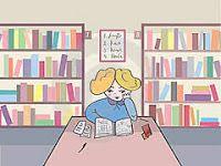 Chistes varios - Estudiantes en la biblioteca.