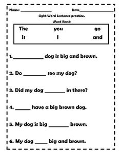 This is an elementary reading comprehension worksheet