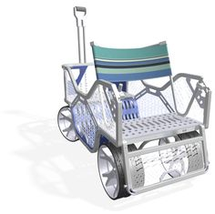 beach cart with optional seat back