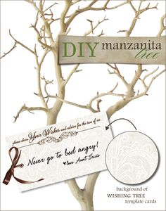 DIY, Do It Yourself, Manzanita Tree and Wish Card, Manzanita, Wish, Wish Tree, print, templates, download
