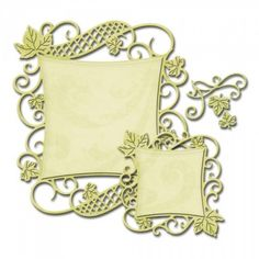 This 7x4-7/8 inch package contains Decorative Curved Square: a set of three nested dies.