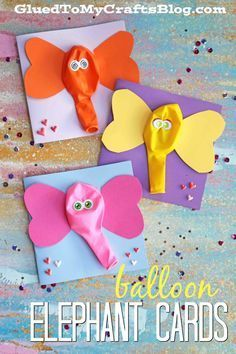 Crafts for Boys - Balloon Elephant Card Crafts - Cute Crafts . - DIY ideas - Selbermachen - Crafts For Boys – Balloon Elephant Cards Crafts – Cute Crafts … - Crafts For Boys, Cute Crafts, Toddler Crafts, Preschool Crafts, Art For Kids, Preschool Age, Simple Crafts For Kids, Preschool Learning, Teaching