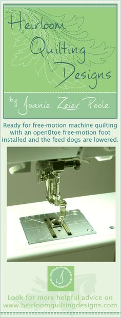 Machine Quilting Helpin the form of usefulTIPS and CHARTSPin to a Pinterest Board (click on image)or Download for Printing (click on title)Joanie's Tension GuideFree-Motion Quilting FootMa…