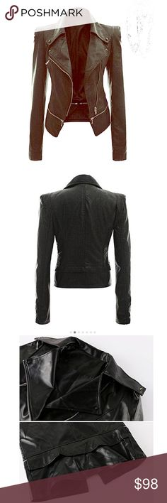 100% Leather Jacket Slim Punk Bomber Casual Zipper Sitengle/ Women Leather Jacket Slim Punk Bomber Casual Zipper Short Coat/  Color Black/ Size S- XL/ Materials Leather/ Condiction Brand New with Tags!!! Buy Now or best Offers!!! singlete Jackets & Coats Utility Jackets
