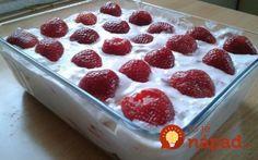 Ľadová maškrta pre celú rodinu: V tomto horku nepečiem, toto je hotové hneď a chutí lepšie ako nanuková torta! Raspberry, Strawberry, Cake Cookies, Biscuits, Pudding, Fruit, Cooking, Recipes, Food