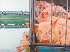 Chinese contemporary artist Liu Xiaodong, Train on ArtStack #liu-xiaodong #art