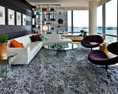Shaggy Shaggy carpet -120 and stylish ideas for living room furniture -  Establish a living room - one with a high pile shaggy carpet The carpet is soft, not without reason very much in trend - thus e...
