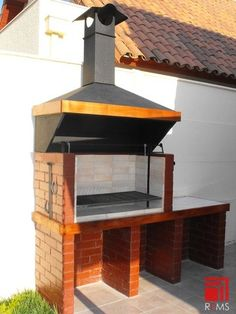 Outdoor Kitchen Plans, Outdoor Oven, Barbecue Design, Grill Design, Patio Grill, Backyard Patio, Bourbon Glazed Salmon, Stone Bbq, Outdoor Grill Station