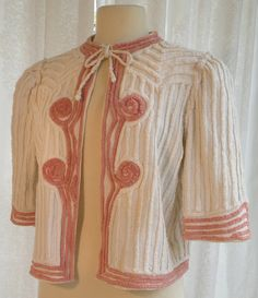 .love this vintage bed jacket done in chenille, I must do one!