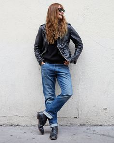 Music producer, author, mother, and model.  Caroline de Maigret is a true Parisian powerhouse. She takes her 501 Jeans from the studio to the Parisian streets, paired with a cool black leather jacket.  #LiveInLevis