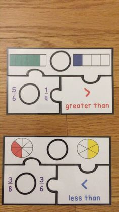 Comparing Fractions, Math Fractions, Less Than Greater Than, 3rd Grade Activities, Fraction Games, Printable Puzzles, Third Grade Math, Review Games, Group Work