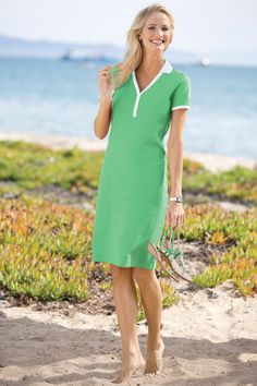 Tipped Polo Shirtdress | Chadwicks of Boston Summer 2014 Collection