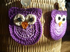 Crochet Earrings Owls are looking for a by LoveCraftingForYou