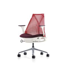 Herman Miller, SAYL work chair (base finish, back color, arm pads, seat fabric - all customizable)