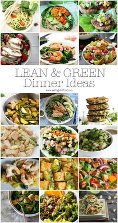 Looking for healthy dinner ideas? Here's over 15 lean & green recipes featuring lean protein and lots of green veggies! Looking for healthy dinner ideas? Here's over 15 lean & green recipes featuring lean protein and lots of green veggies! Lean Protein Meals, Lean Foods, High Protein, Healthy Snacks, Healthy Eating, Healthy Recipes, Lean Recipes, Hallumi Recipes, Gastronomia