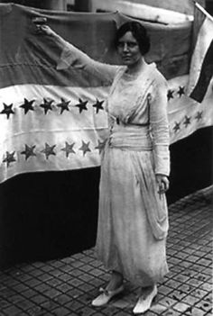 Alice Paul and other militants withdraw from the National American Woman Suffrage Association because she considers their politics too timid. She forms the Congressional Union for Woman Suffrage, which in 1917 merges with another group to become the National Woman's Party. She serves prison terms in England and the U.S. for her agitation for women's suffrage. In 1923 she drafted and has introduced into Congress the first Equal Rights Amendment for women.