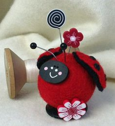 Ladybug Pincushion by Just Another Button Company