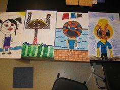 Jamestown Elementary Art Blog: 5th grade Cartoon Sports Heads